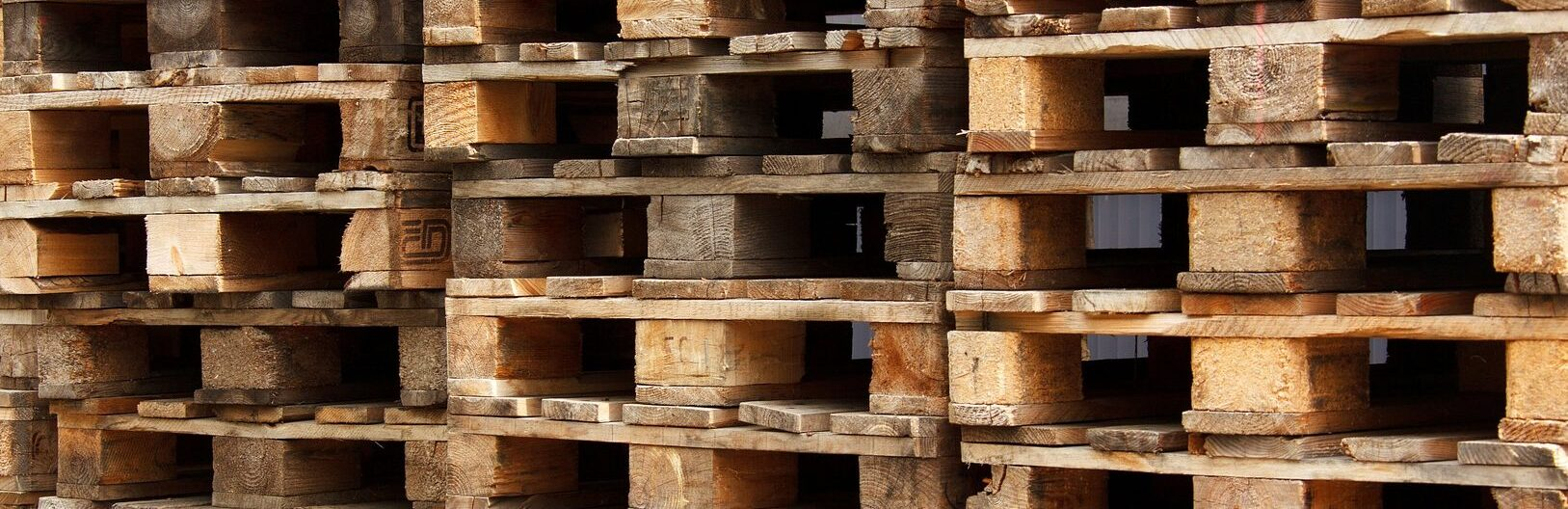 stacked wood pallets