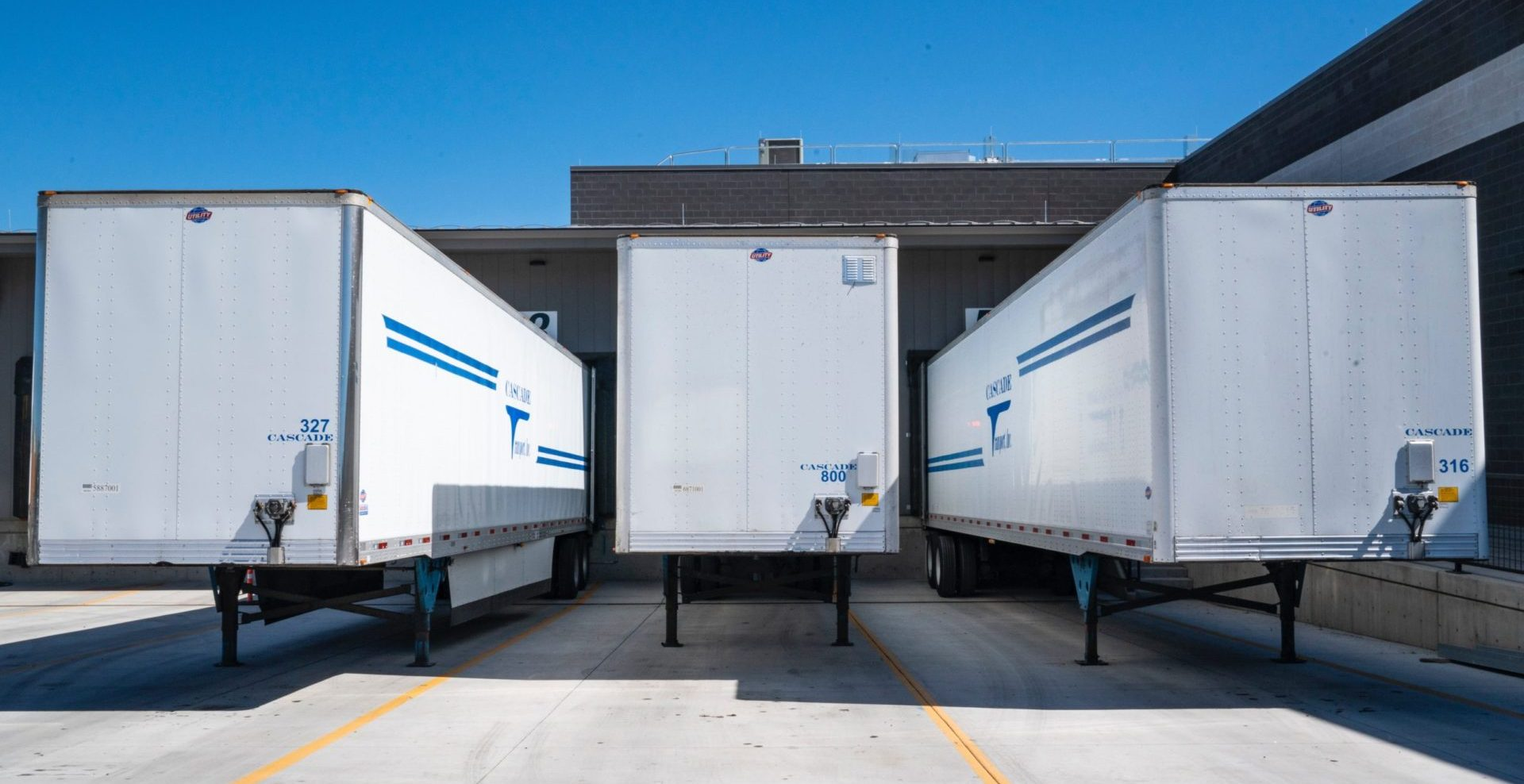 outdoor warehouse dock with trailers