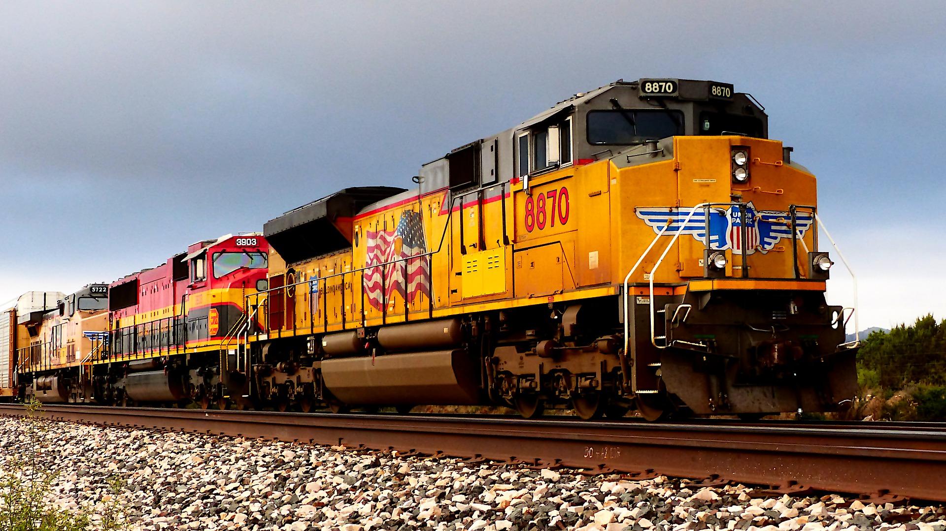 freight train on tracks